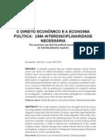 O DIREITO ECONOMICO E A ECONOMIA POLÍTICA  UM INTERDISCIPLINARIEDADE NECESSARIA.pdf