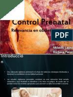 Control Prenatal Relevancia en Obstetricia!!!!!