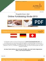 Altruja Online Fundraising Studie 2013