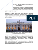 ASPECTOS CRÍTICOS DE LA GESTIÓN DE RECURSOS HÍDRICOS EN EL PERÚ
