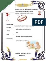 Informe de La Actividad Pastoral