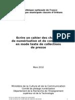 Cahier Charges Numerisation Presse