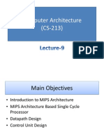 Computer Architecture MIPS Processor Description