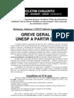 Boletim Conjunto - Sintunesp-Adunesp-CEEUF - 24-5-2013