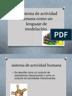El Sistema de Actividad Humana Como Un Lenguaje