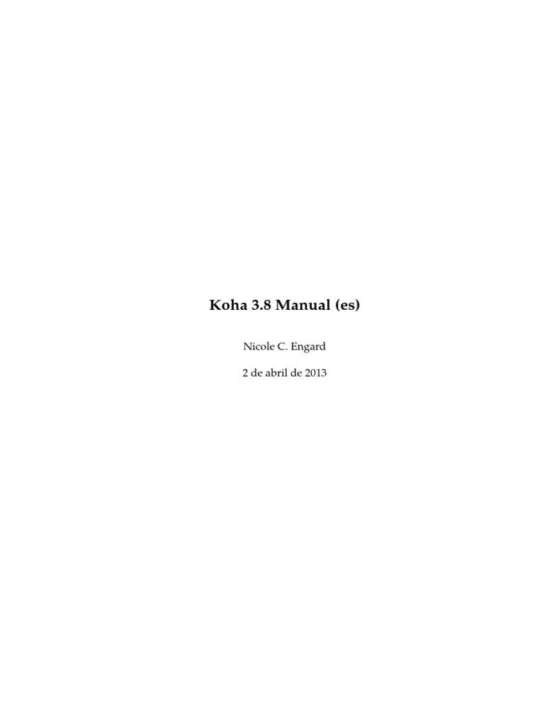 Koha 3.8 Manual (Es)