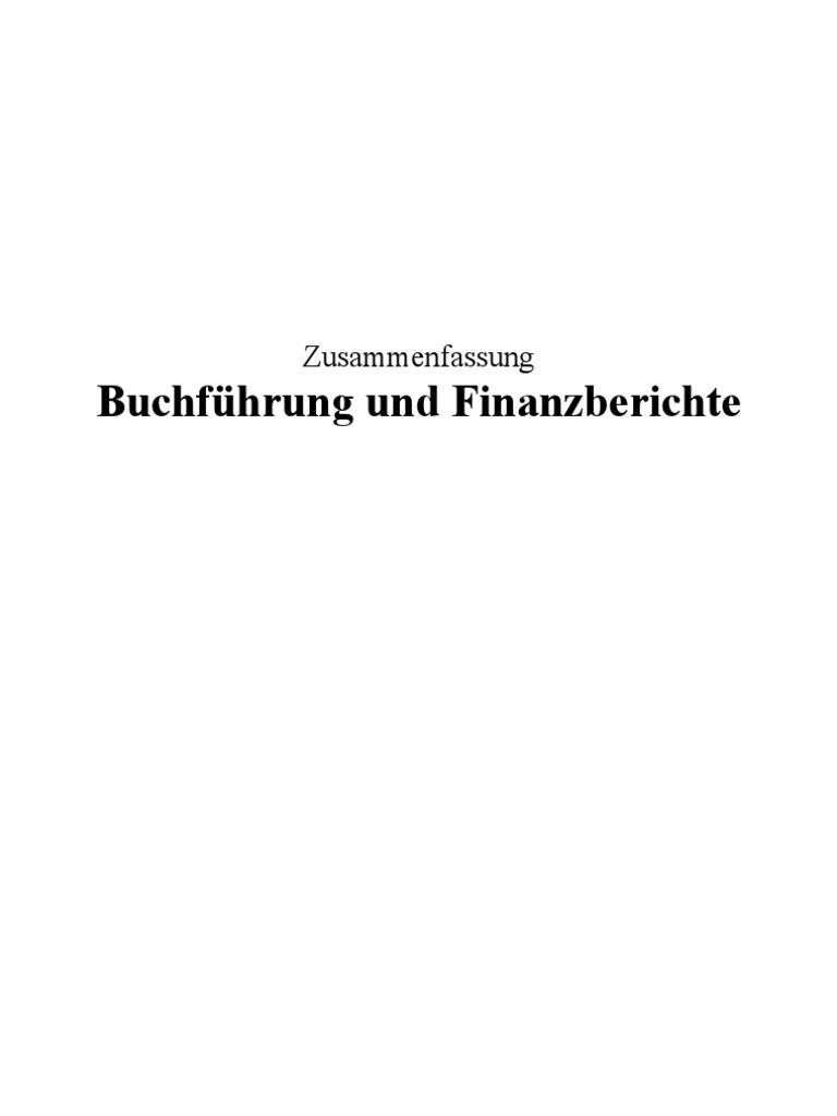 Zusammenfassung BuchführungFinanzberichte-1