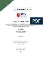 Esquema Proyecto de Tesis 2013