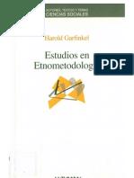 31989093 Garfinkel Harold Estudios en Etnometodologia