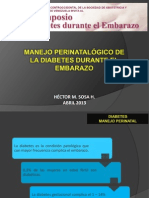 Diabetes Manejo Perinatal Definitivo2013