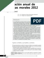 Declaración anual de personas morales 2012. Régimen general