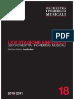 Pomeriggi Musicali Programma Del Concerto Del 31 Marzo 2011