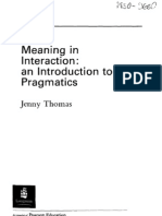 Meaning in Interaction - An Introduction to Pragmatics