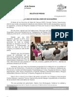 07/06/11 Germán Tenorio Vasconcelos ATIENDE SSO A MÁS DE DOS MILLONES DE OAXAQUEÑOS
