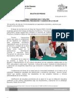 20/06/11 Germán Tenorio Vasconcelos FIRMA CONVENIO SSO Y CECyTEO PARA PROMOCIÓN, PREVENCIÓN Y CUIDADO DE LA SALUD