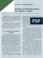 La Nocion de Substancia en La Filosofia Moderna (Descartes Spinoza y Leibniz)