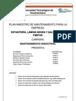 37179407 Ejemplo de Plan Maestro de Mantenimiento