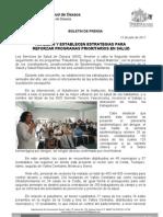 12/07/11 Germán Tenorio Vasconcelos analizan y Establecen Estrategias Para Reforzar Programas Prioritarios en Salud