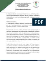 CÓDIGO DE ÉTICA PROFESIONAL DEL NUTRIÓLOGO