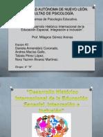 Devenir Historico de La Educacion Inclusiva Internacional