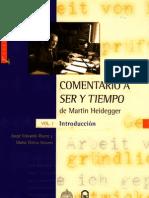 137771219 Comentario a Ser y Tiempo de Martin Heidegger Vol 1 Introduccion Jorge Eduardo Rivera y Maria Teresa Stuven 2008