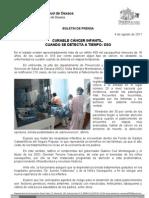 04/08/11 Germán Tenorio Vasconcelos Curable cáncer infantil, cuando se detecta a tiempo, SSO (1)