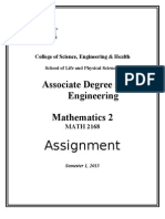 MATH2168 Assignment Sem1 2013