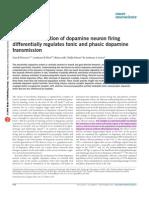 Afferent Modulation of Dopamine Neuron Firing Differentially Regulates Tonic and Phasic Dopamine Transmission