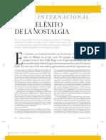 Chile El Exito de La Nostalgia. Carlos Franz