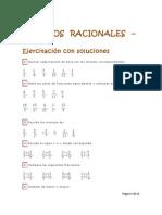 NÚMEROS RACIONALES - Ejercitación con soluciones