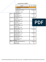 Lista de Precios Implementos y Equipos Al 5 de Sept de 2011