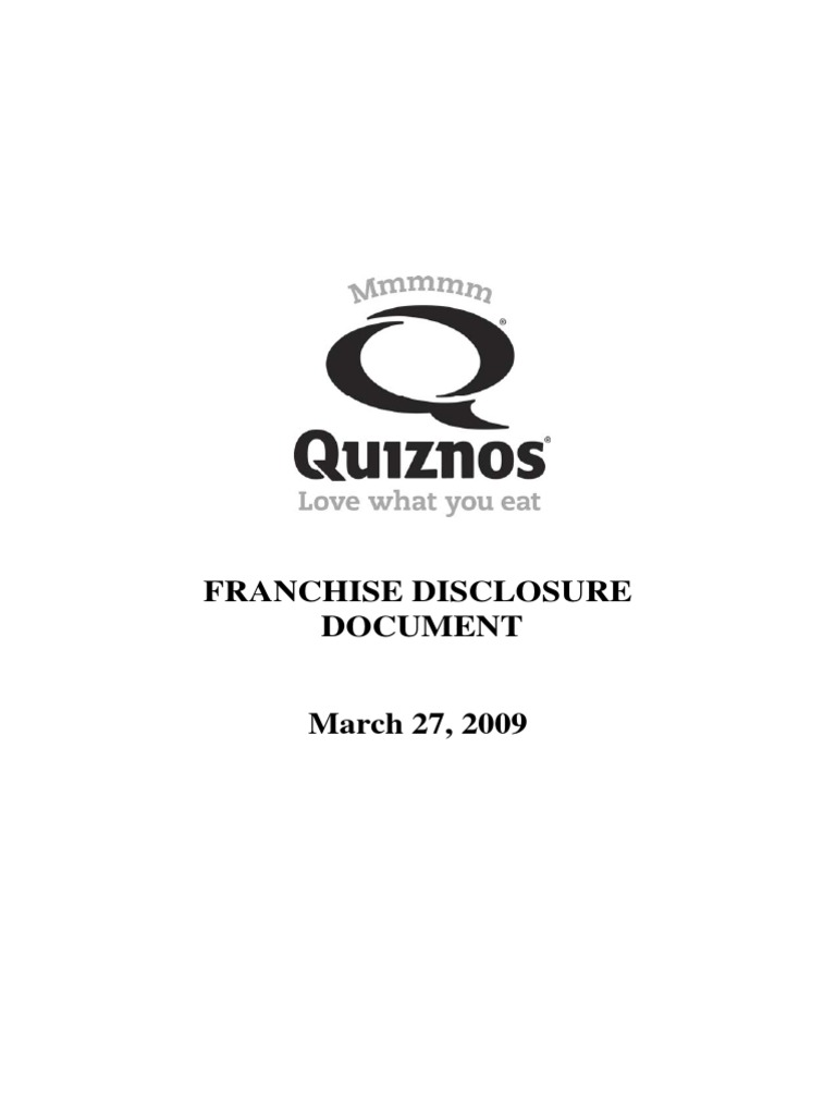 0ad26a991 QFA (Unit) - Final PDF File of 3.27.09 FDD (With Exhibits) | Franchising |  Business Law