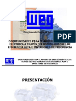 Ahorro de Energia en Motores Tecnologia WEG(1)