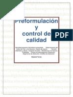 Preformulación y control de calidad