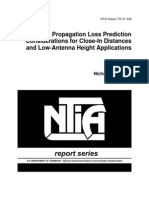 Propagation Loss Prediction Considerations for Close-In Distances and Low-Antenna Height Applications NTIA Report TR-07-449 07-449
