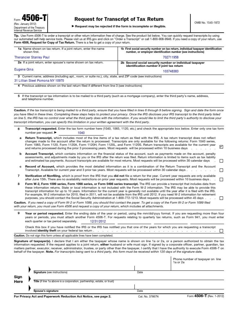 Www.irs.Gov Pub Irs-PDF f4506t | Irs Tax Forms | Internal Revenue ...