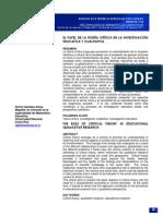 Dialnet-ElPapelDeLaTeoriaCriticaEnLaInvestigacionEducativa-3931278