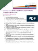 15 Pasos de Construccion Circunferencia Trigonometrica y Funciones Trigonometricas