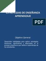 ESTRETEGIAS DE ENSEÑANZA APRENDIZAJE