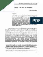 Alcoforado, Paulo, Roteiro para o estudo do órganon, 1993