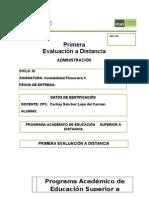 Primera Evaluacion a Distancia - Contabilidad Financiera II -Lucasa