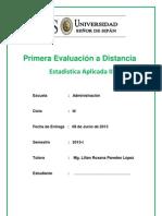 Primera Evaluación a Distancia 2013-I Est