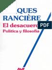 Ranciere Jacques El Desacuerdo OCR