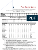 05.26.13 Post Game Notes