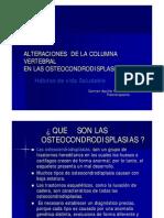 Alteraciones de La Columna Vertebral en Las Osteocondrodisplasias