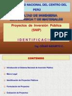 Identificación DE LOS PROYECTOS