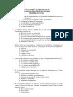 Cuestionario de Preguntas de Microeconomia