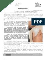 05/09/11 Germán Tenorio Vasconcelos Intensifica Sso Acciones Contra Tuberculosis