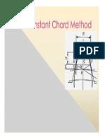 Constant Chord Method