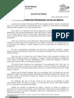 09/09/11 Germán Tenorio Vasconcelos OTORGA SSO ATENCIÓN PROFESIONAL EN SALUD MENTAL